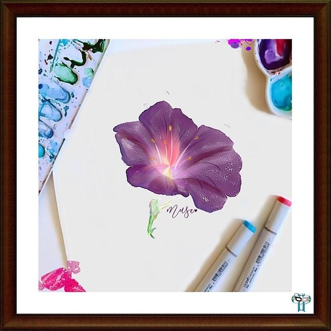 WIP Floral Illustration