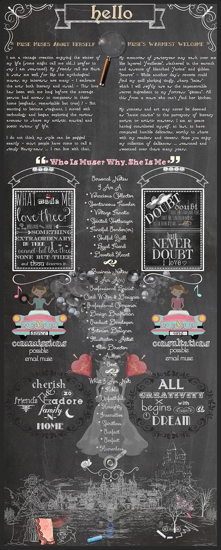 PoeticPastries Chalk Design