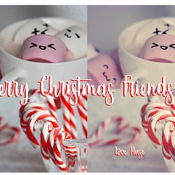 Sugary Hello and Merry Christmas Wishes to Friends