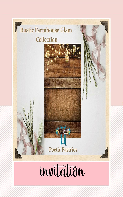 Design of Wedding Invitation - Rustic Farmhouse Theme