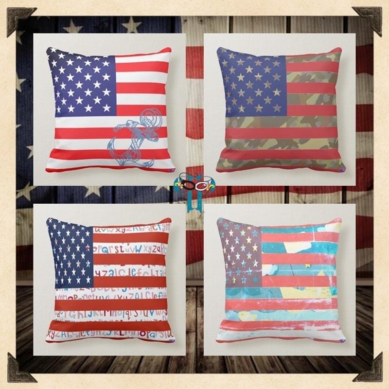 USA Patriotic Home Decor Pillows