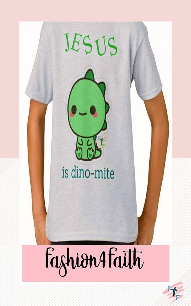 Fashion for Faith T-shirt - Dinosaur Theme