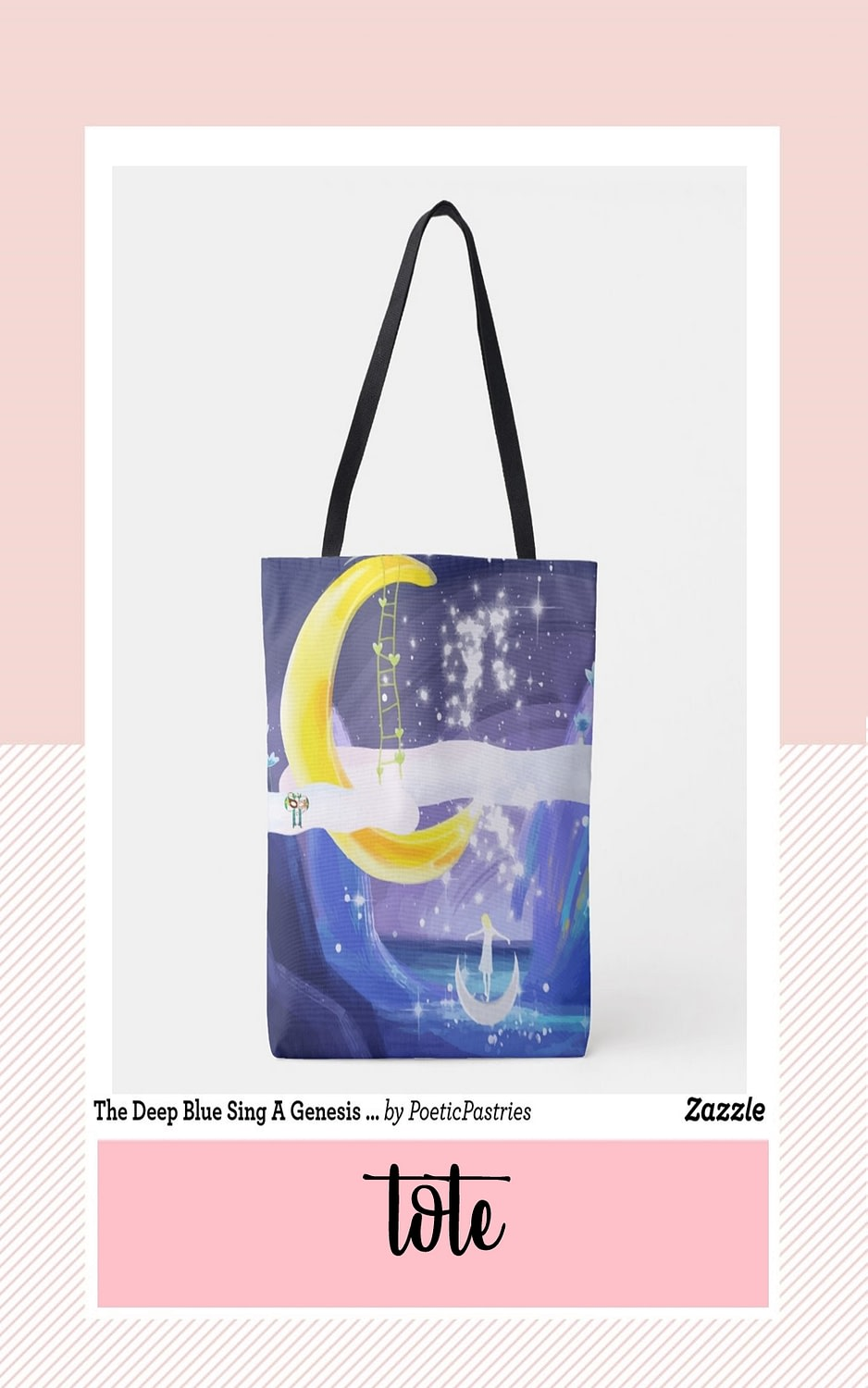 Illustration Design for Textile Tote Bag - Theme Whale