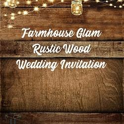 Wedding Invitation Rustic Farmhouse