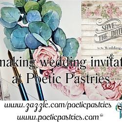 Watercolor, illustration wedding applications