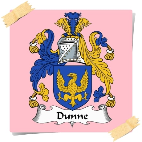 Family Historical Crest Lineage Dunn Dunne
