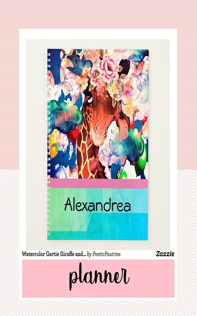 Watercolor Design - Part of the Planner Collection from Poetic Pastries