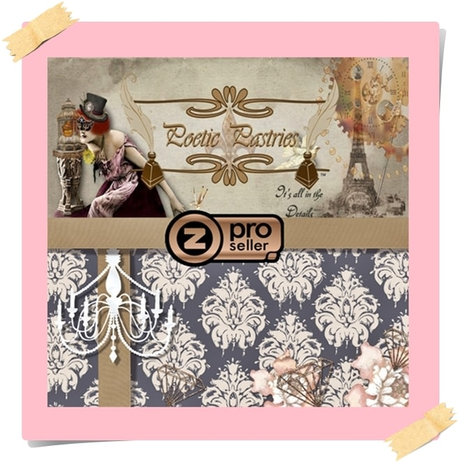 Poetic Pastries Zazzle Banner from Studio Page